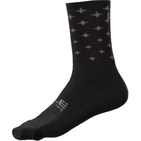 Alé Cycling Stars Q-Skin Socks 16cm Men, black/dove grey